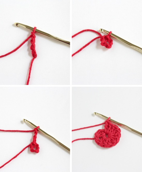 Crocheting 12 in a round