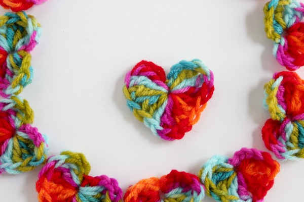 Crocheting Hearts