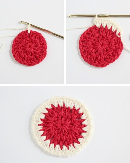 Crocheting a 3rd yarn half double crochet round