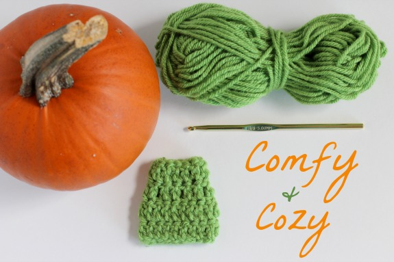 Crocheting a Cozy for a Pumpkin Stem