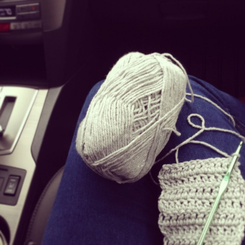 Crocheting in the Car