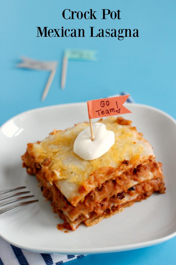 Game Day Crock Pot Mexican Lasagna Make And Takes
