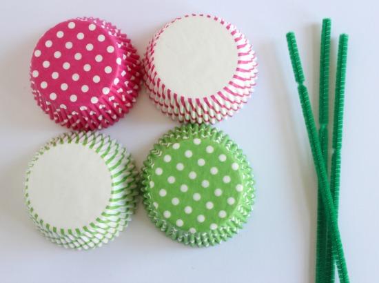 Cupcake Liner Flower Supplies