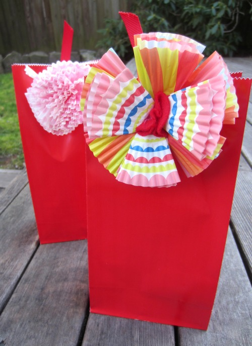 Cupcake Liner Flowers for Gift Bags