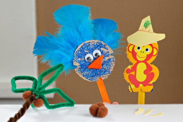 Cute Cereal Box Puppets for Kids