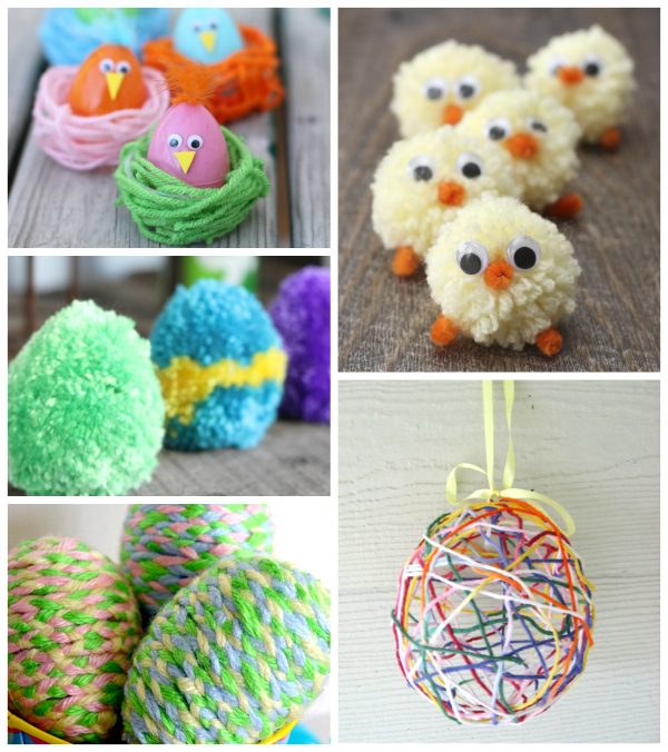 Cute-Easter-Yarn-Crafts-for-Kids