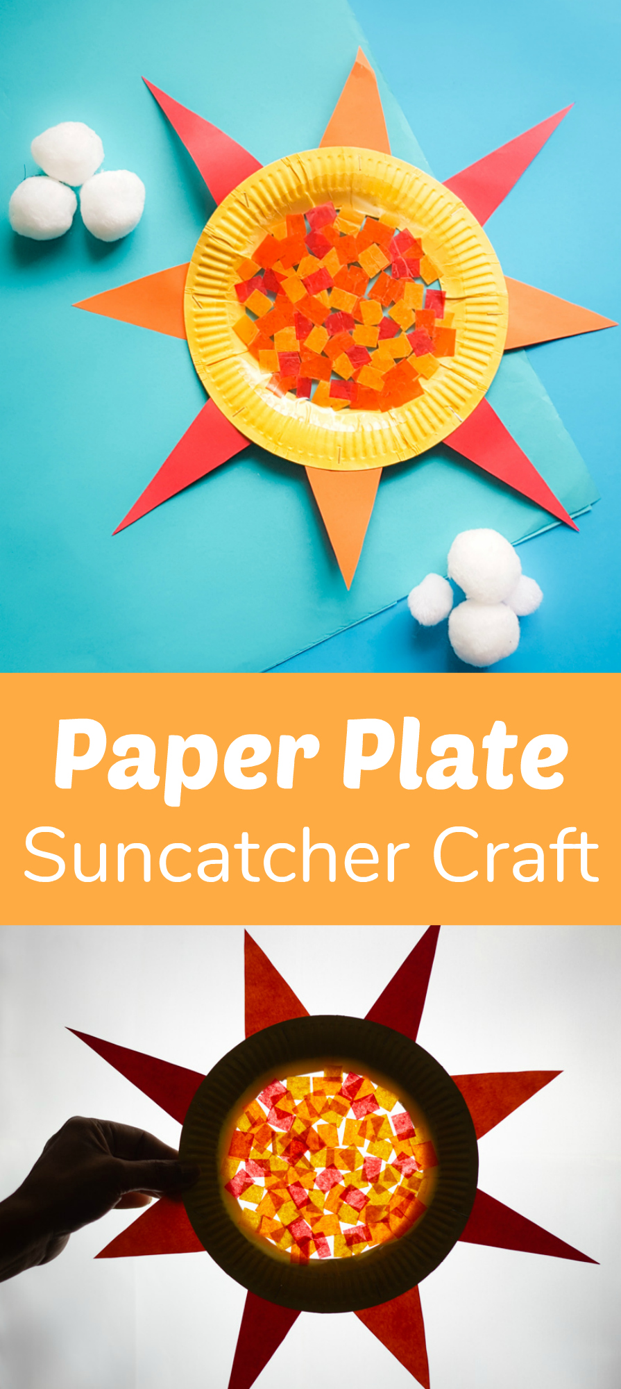Cute Paper Plate Suncatcher Craft for Kids