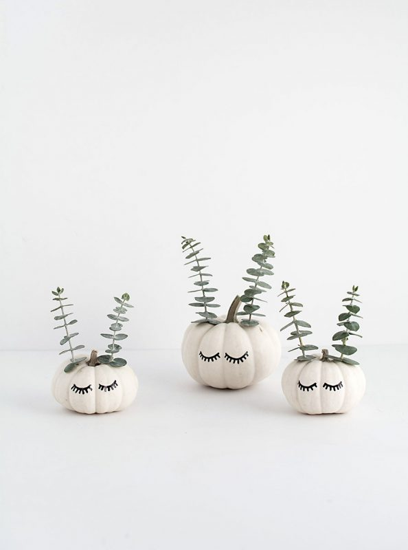 DIY Cute Faced Mini Pumpkins