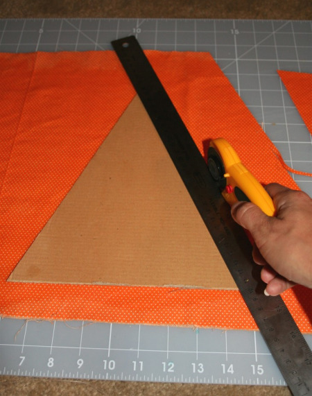 Cutting Mod Podge Fabric