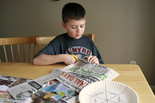 Cutting Newspaper colors