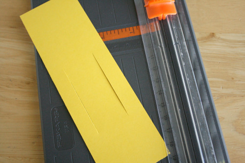 Cutting Paper for a Bookmark