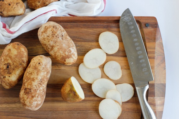 Cutting Potatoes for Homemade Chips