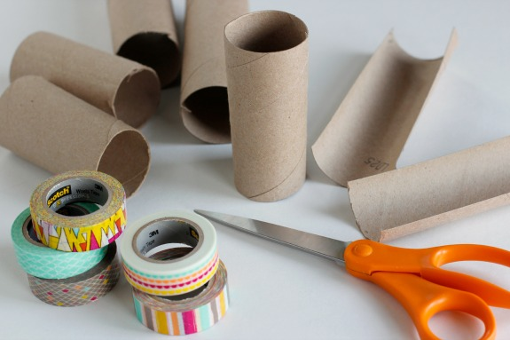 Cutting Recycled Paper Tubes for Crafting
