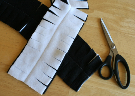 Cutting a Fringe Fleece Scarf