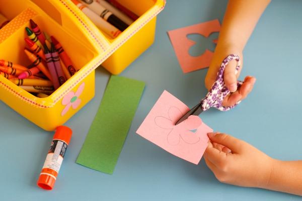 Cutting with Fiskar Kids Scissors