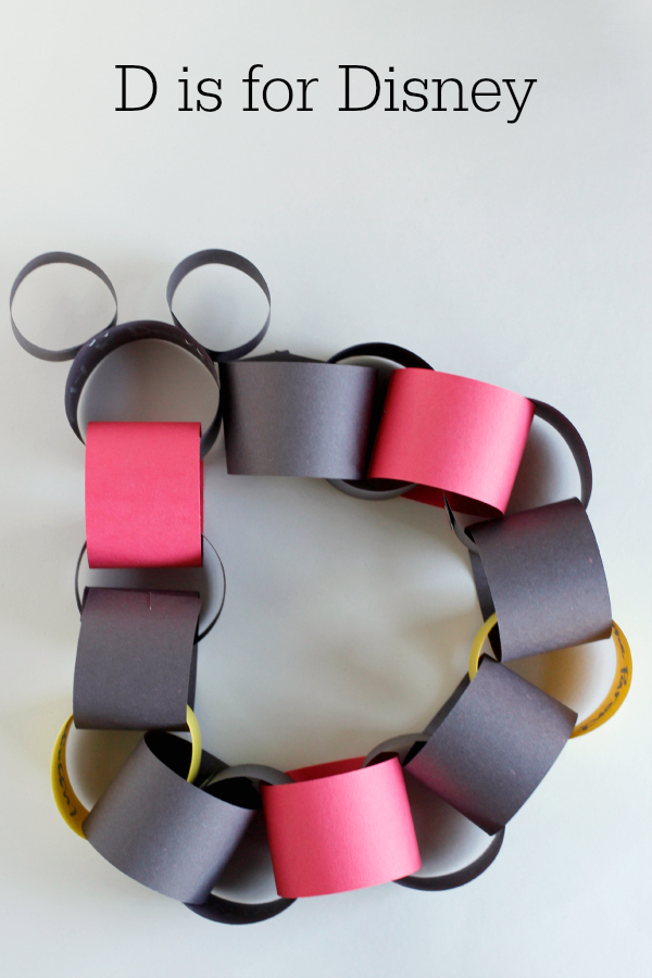D is for Disney Paper Chain Countdown