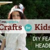 DIY 1920s feather headband