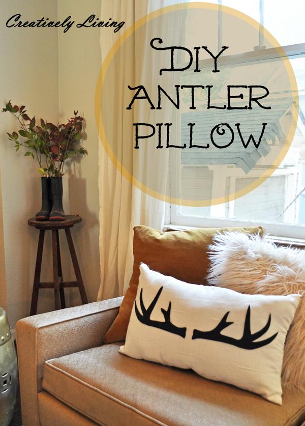 DIY Antler Pillow