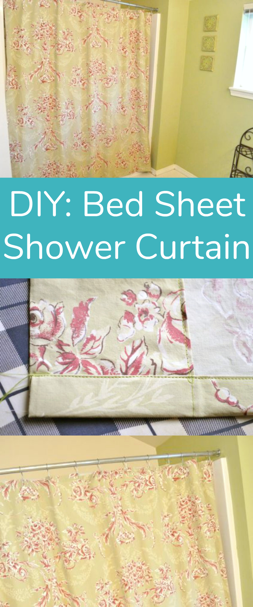 DIY: Bed Sheet Shower Curtain Sewing Project