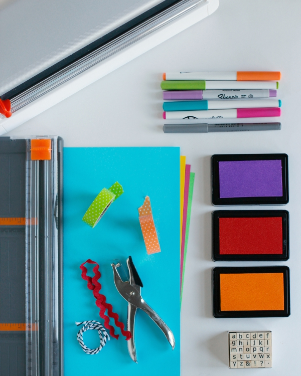 DIY Bookmark Supplies for Back to School