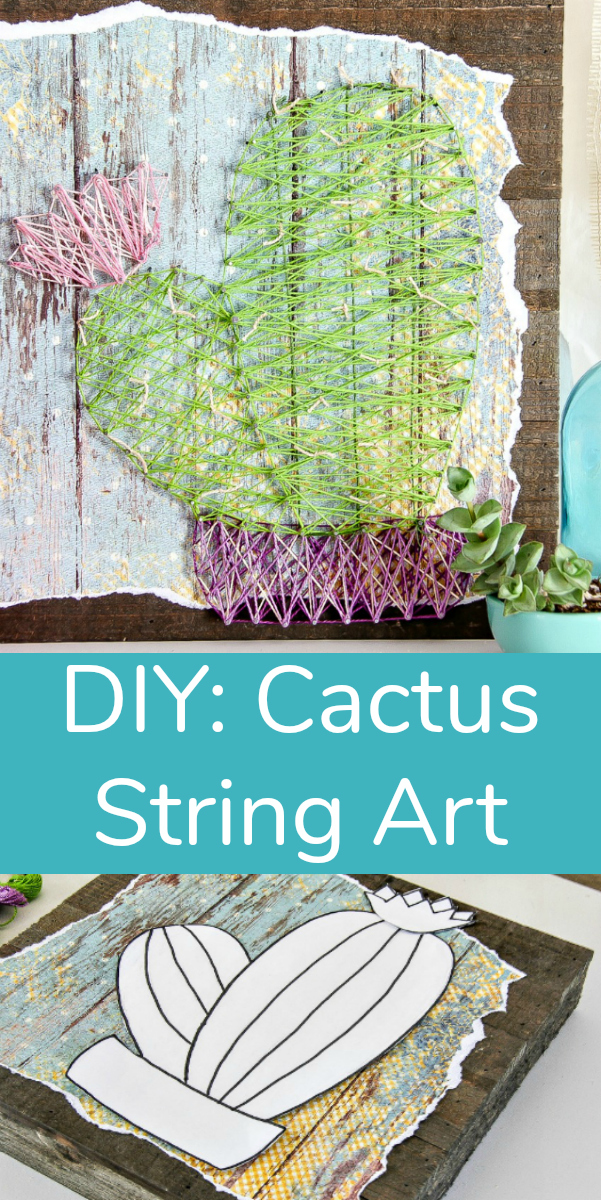 DIY Cactus String Art Piece