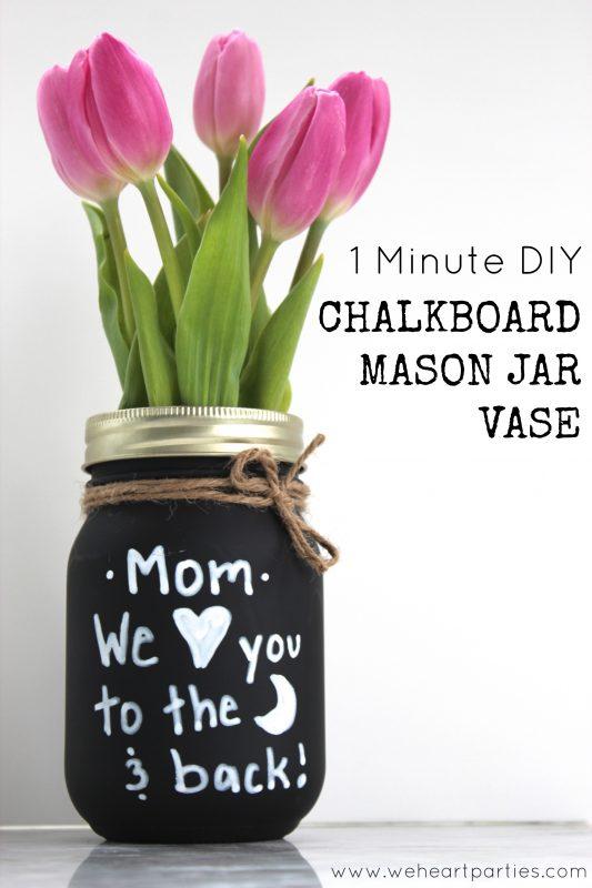 1 Minute DIY Chalkboard Mason Jar