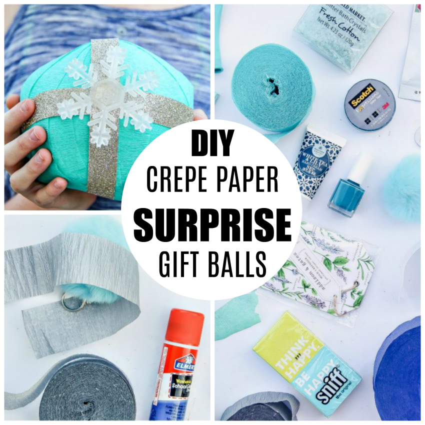 DIY Crepe Paper Surprise Gift Balls