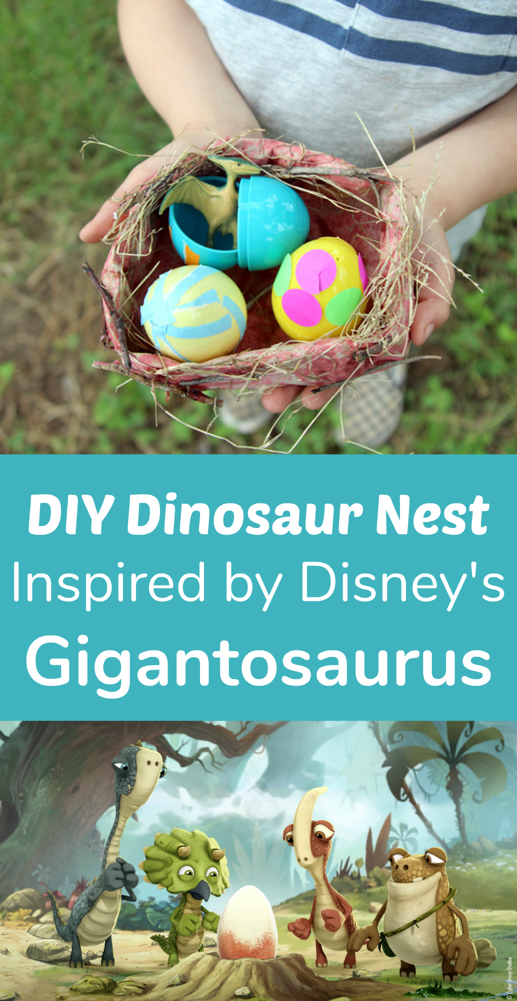 DIY Dinosaur Nest Inspired by Disney's Gigantosaurus