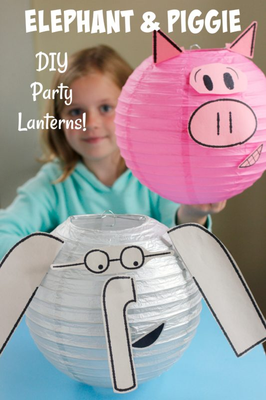 Elephant Piggie DIY Party Lanterns
