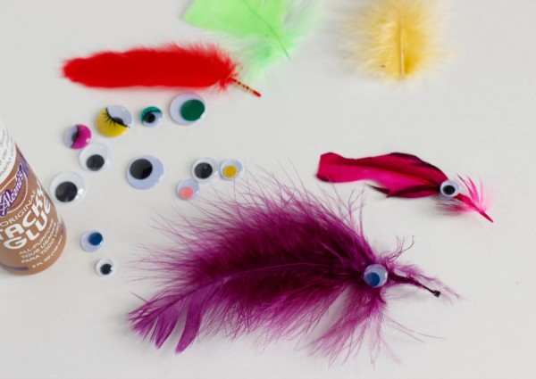 DIY Feather Fish Craft for Kids