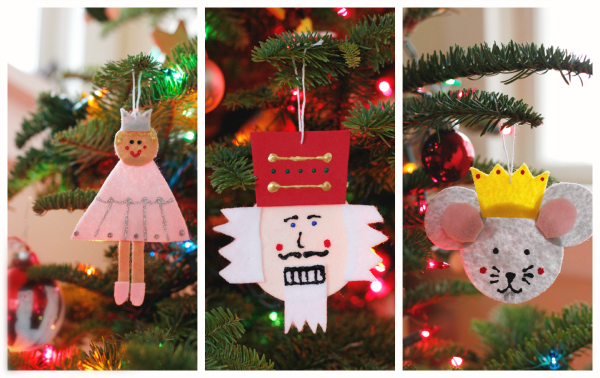 DIY Felt Nutcracker Ornaments for Christmas