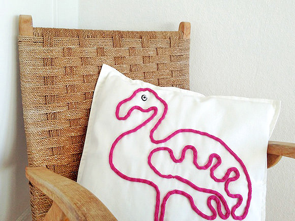 DIY Flamingo Pillow