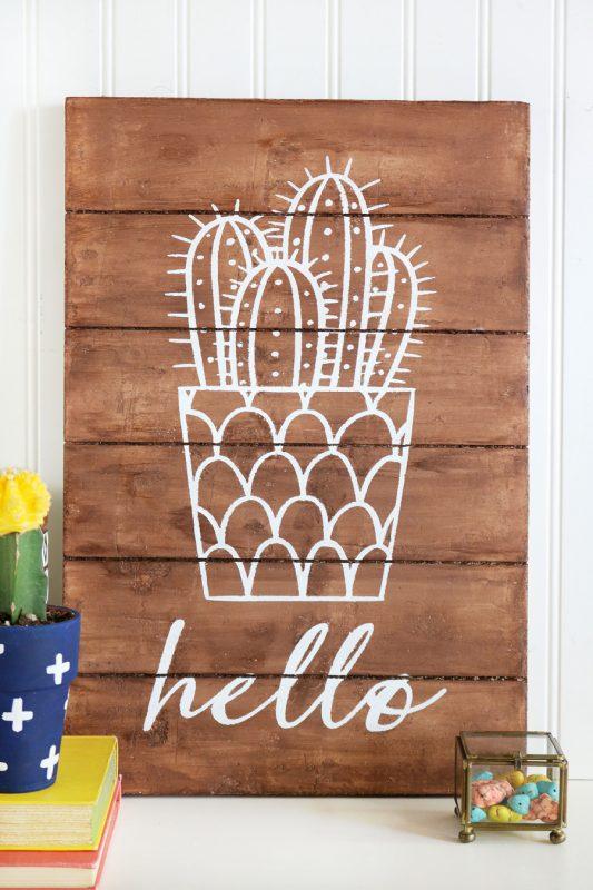 DIY Foam Cactus Sign