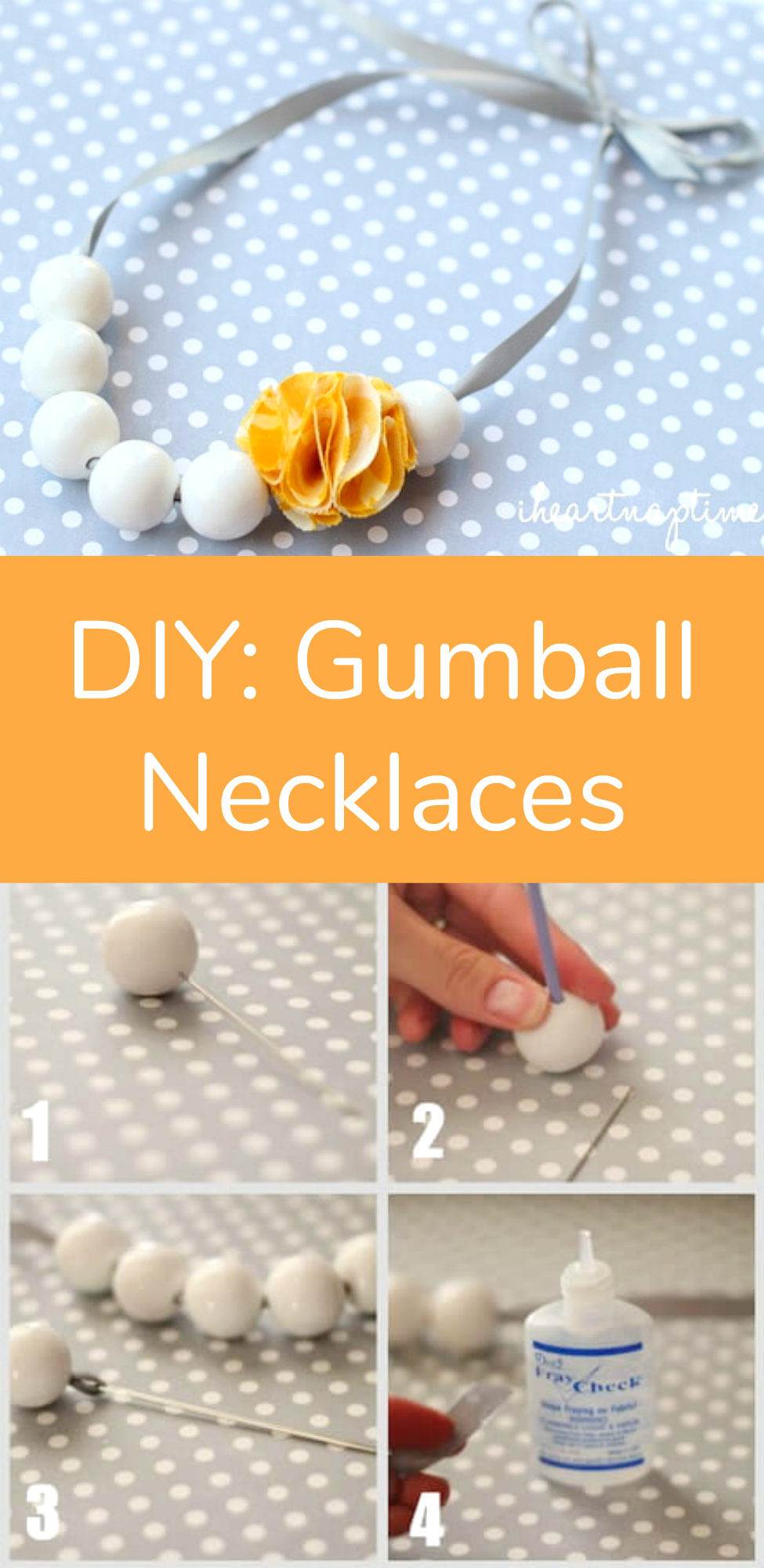DIY Gumball Necklaces Cute Craft