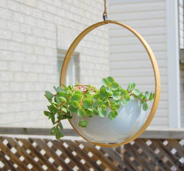 DIY Modern Hanging Planter