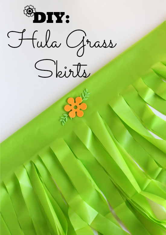 DIY Hula Grass Party Skirts
