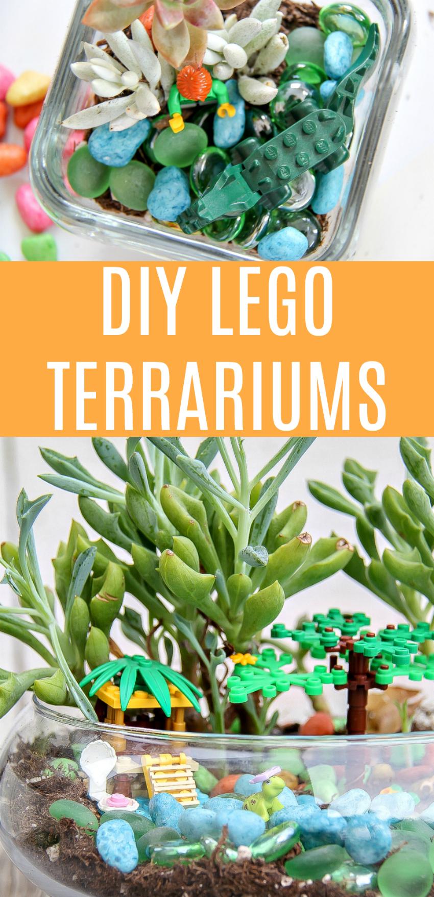 DIY LEGO Terrariums Kids Craft