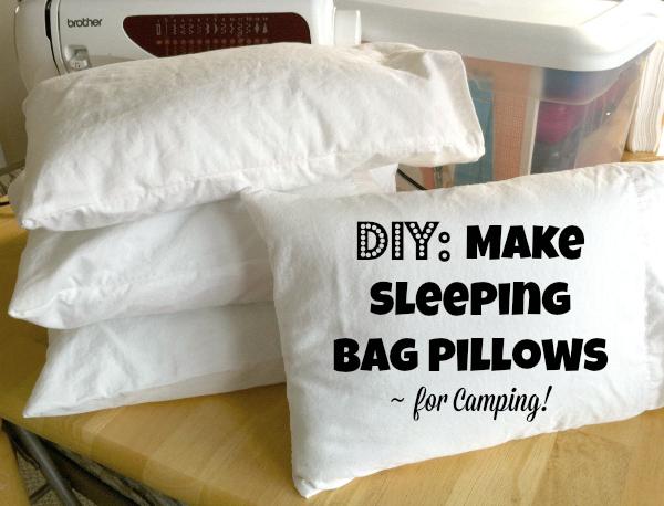 DIY Make Sleeping Bag Pillows for Camping!