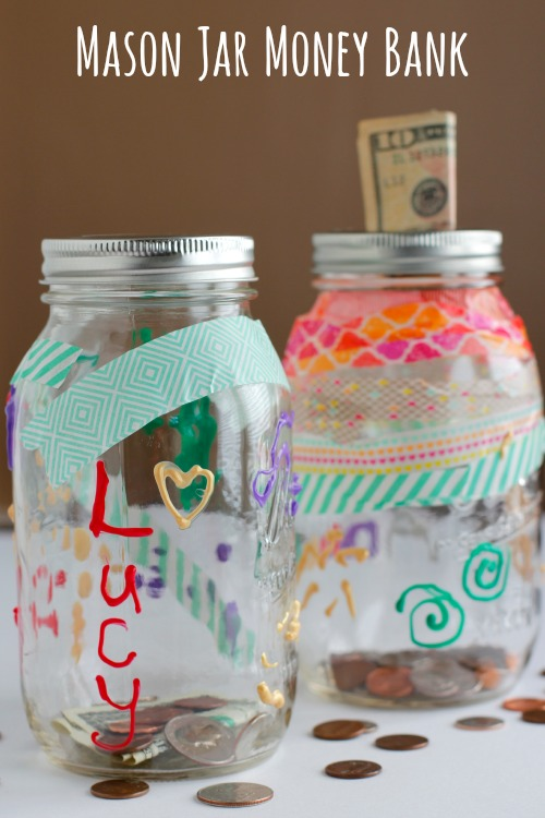 Decorate A Mason Jar Bank Make And Takes