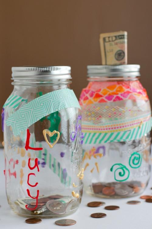 DIY Mason Jar Money Bank for Kids