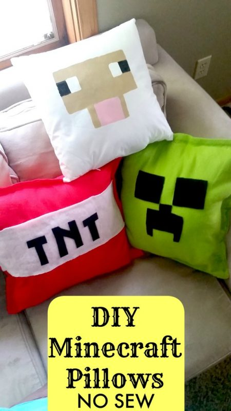 25 minecraft projects kids will love make and takes diy minecraft pillows solutioingenieria Images