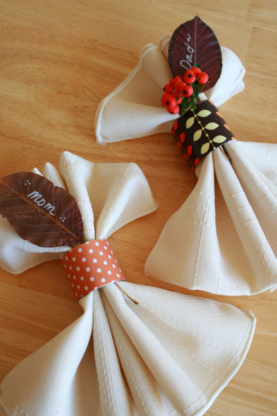 DIY Recycled Toilet Paper Napkin Rings