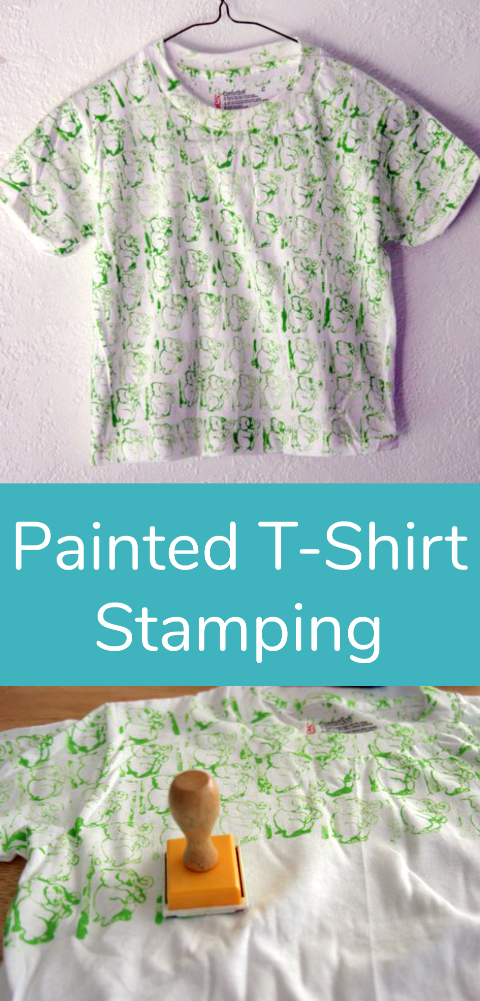 DIY Painted T-Shirt Stamping