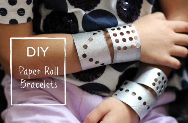 DIY Paper Roll Bracelets