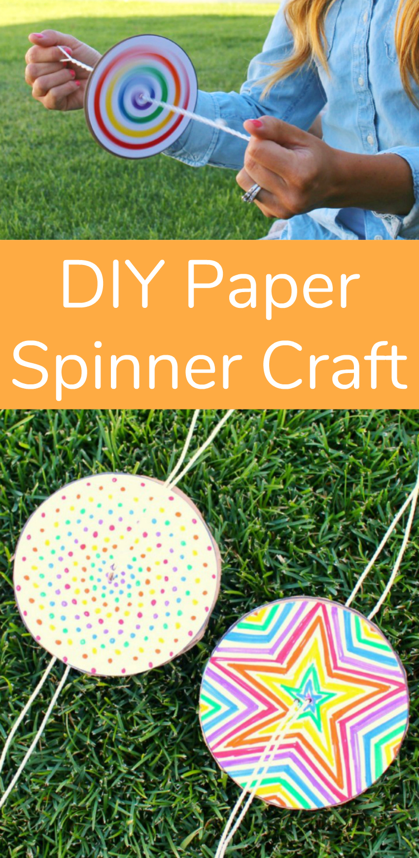 DIY Paper Spinner Craft for Kids