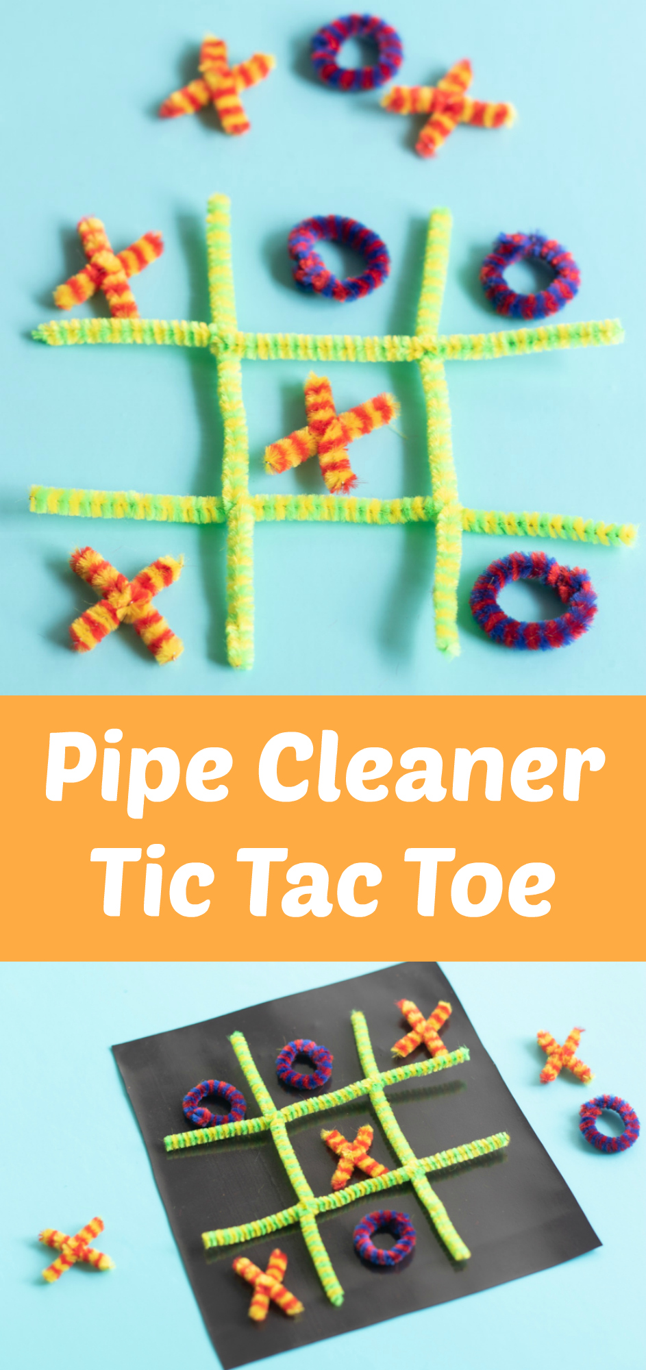 DIY Pipe Cleaner Tic Tac Toe Family Game on the Go