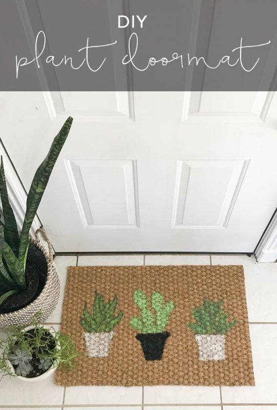 Plant Doormat Idea
