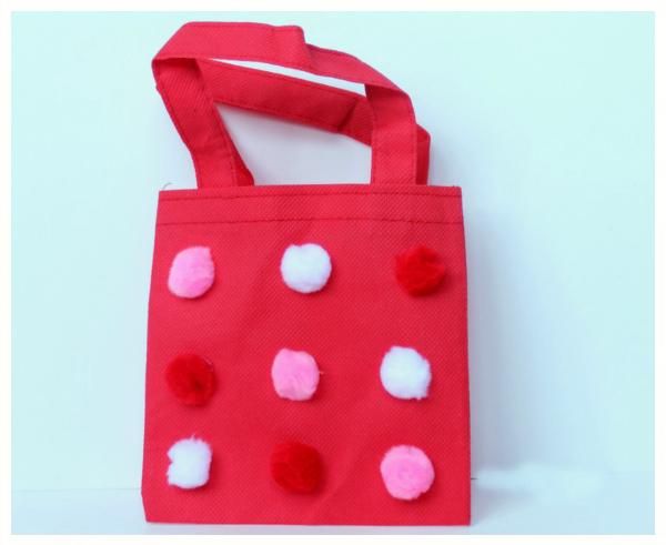 Pom pom bag craft for kids make and takes for Pom pom puppy craft