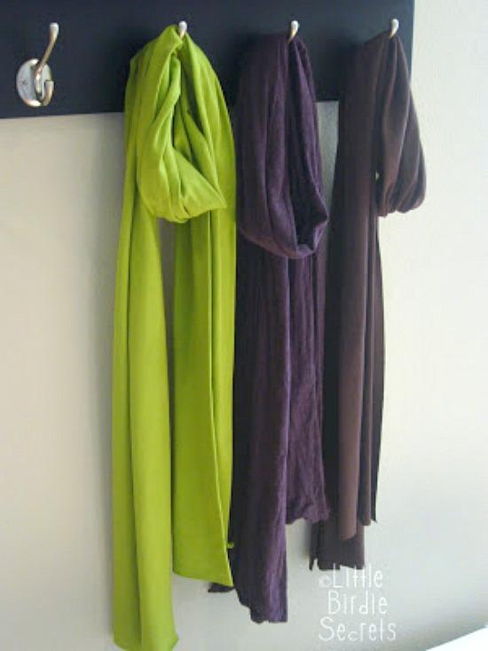 DIY Simple Jersey Fabric Scarf