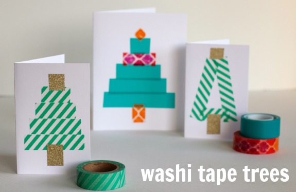 DIY Washi Tape Trees @makeandtakes.com